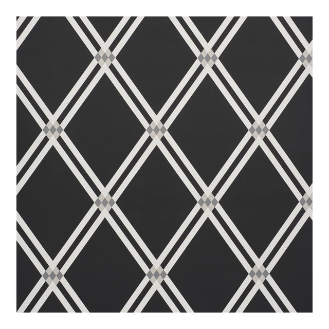 Sample - Schumacher X David Oliver AsoloWallpaper in Charcoal For Sale