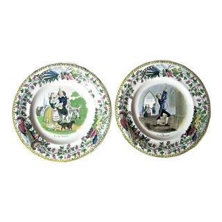 Lebeuf Milliet Et Cie. Plates - Set of 2 For Sale