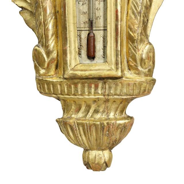 Metal Louis XVI Giltwood Barometer For Sale - Image 7 of 9