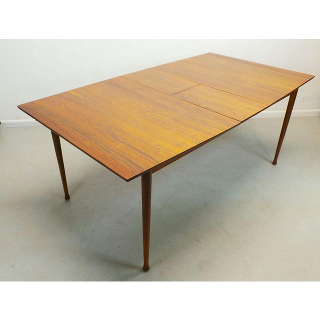 Brown Mid Century Modern Walnut & Rosewood Expanding Dining Table With Butterfly Leaf by Frank and Son For Sale - Image 8 of 8
