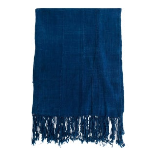 African Indigo Blues Textile Throw/ Runner For Sale