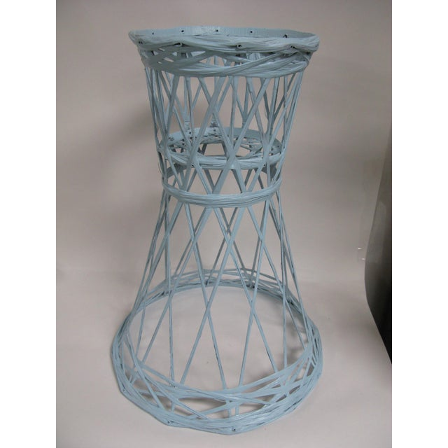 Blue Mid Century Modern Fiberglass Russell Woodard Plant Stand For Sale - Image 8 of 8