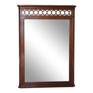 1960s American Classical Kindel Furniture Traditional Cherry Wall Mirror For Sale