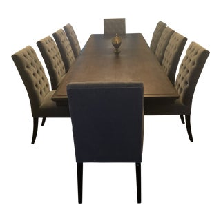 Restoration Hardware St. James Rectangular Extension Dining Table and Dining Chairs For Sale