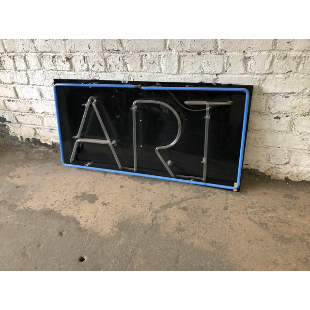 """Late 20th Century Vintage Custom Neon """"Art"""" Sign For Sale - Image 5 of 8"""