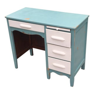 Antique Shabby Chic Painted Desk For Sale