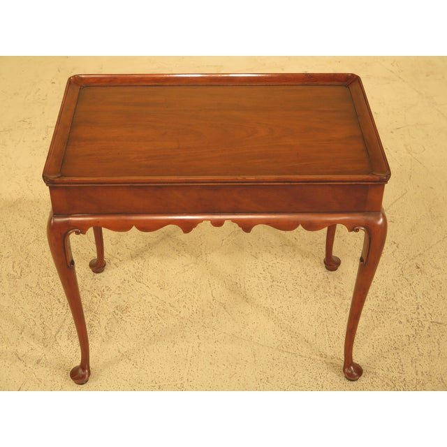 Kittinger Colonial Williamsburg Mahogany Tea Table - Image 2 of 11