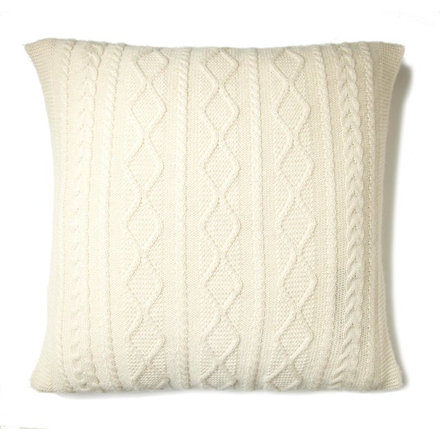 The Howard Cable Square Pillow features our signature cable stitch design, putting a modern twist on a classic Irish cable...