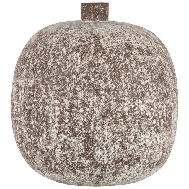 """Claude Conover Stoneware Vessel Titled """"Balakmul"""" For Sale In New York - Image 6 of 6"""