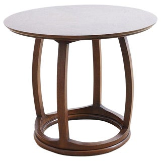 Round Mahogany Side Table or Tabouret For Sale