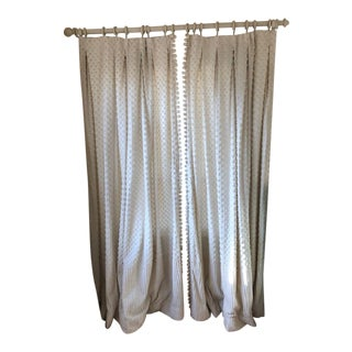 Custom Made Lined Curtain Panels - a Pair For Sale