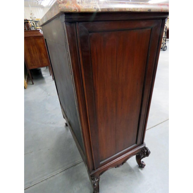 Louis XV Style Marble Top Dresser. For Sale - Image 9 of 11