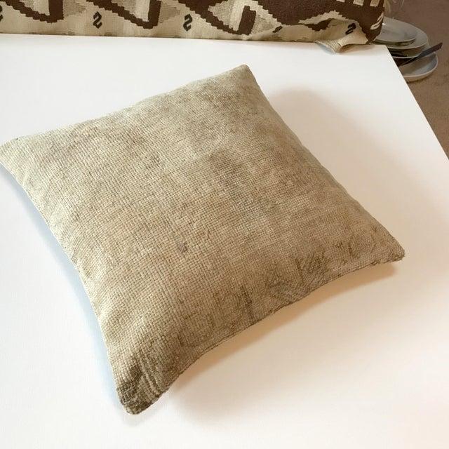 Vintage Wool Rug Pillow/Cushion - Image 5 of 5