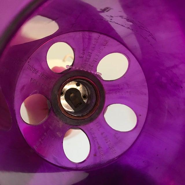 Mid-Century Modern Mid-Century Gilbert SoftLite Purple Mushroom Lamps - Pair For Sale - Image 3 of 6