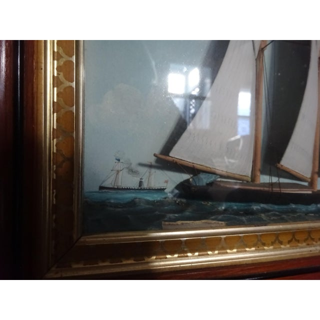 Nautical 1850s Antique Victorian Ship Diorama For Sale - Image 3 of 5