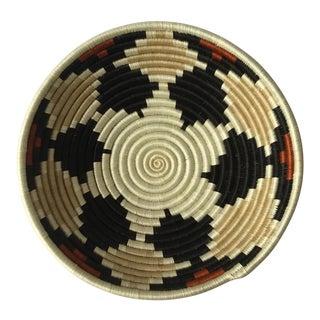 African Rwanda Sweet Grass & Sisal Woven Basket