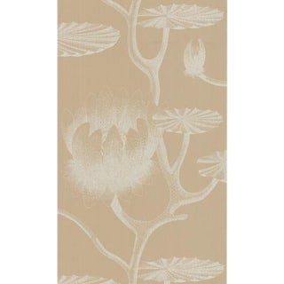 Cole & Son Lily Wallpaper Roll - Ivory/Sand For Sale