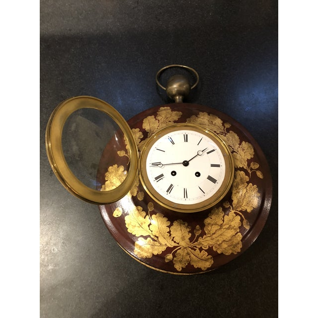 Antique French Tole Clock For Sale - Image 4 of 13