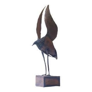 1960s Large Metal Brutalist Bird Sculpture For Sale