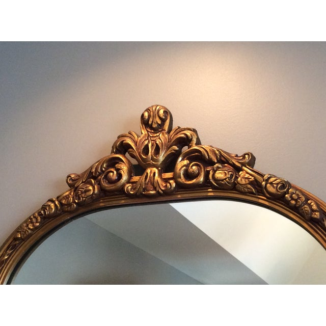 Antique Gilt Carved Arched Mirror - Image 3 of 6
