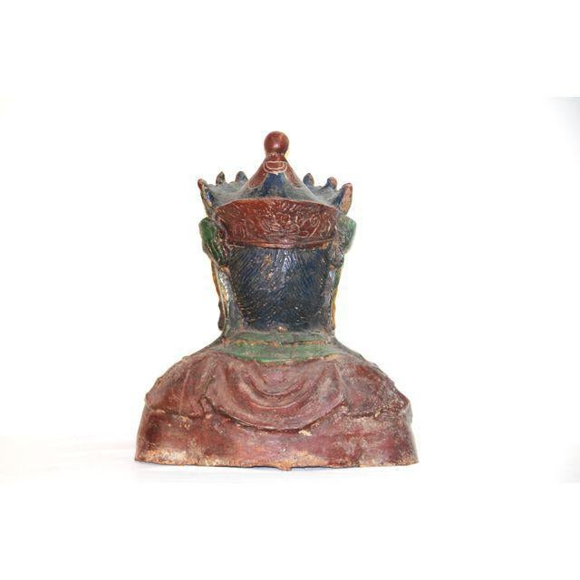 Asian ​Metal​ ​Multi-Colored​ ​Kwan​ ​Yin​ ​Bust For Sale - Image 3 of 3