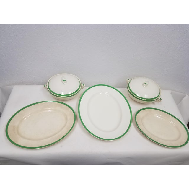Antique Wedgwood Art Deco Serving Platters and Bowls - Found in Devon For Sale - Image 12 of 12