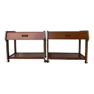 Vintage Midcentury Danish Modern Nightstands - a Pair For Sale