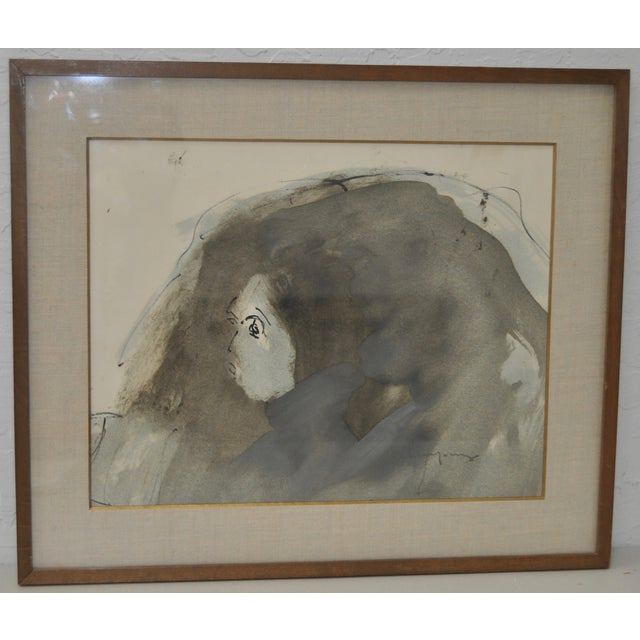 Abstract Figure Watercolor by John Young - Image 2 of 6