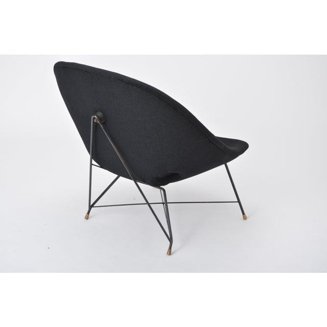 Saporiti Black Italian Cosmos Lounge Chair by Augusto Bozzi for Saporiti For Sale - Image 4 of 11