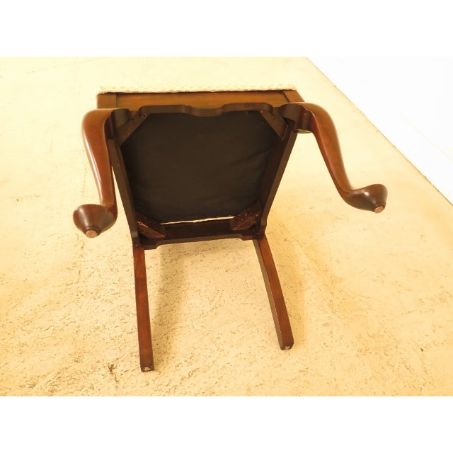 1990s Vintage Harden Furniture Cherry Wood Queen Anne Style Dining Room Chairs - Set of 6 For Sale - Image 12 of 13