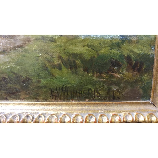 Blue 19th Century Edmund Morison Wimperis Harvesters Resting Oil Painting For Sale - Image 8 of 10