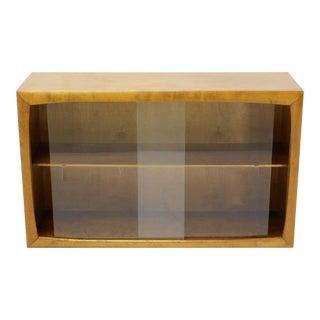 Vintage Mid Century Edmund Spence Blonde Wood Swedish Modern Hanging Bookcase For Sale
