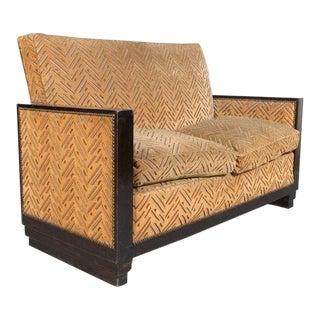 1920s Vintage Art Deco Love Seat For Sale