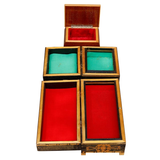 Bohemian Inlaid Trinket Boxes, Set of 3 For Sale In New York - Image 6 of 9
