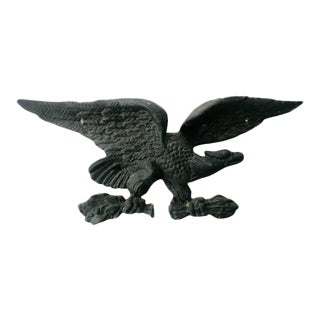 Cast Iron American Eagle Wall Plaque Home Accent For Sale