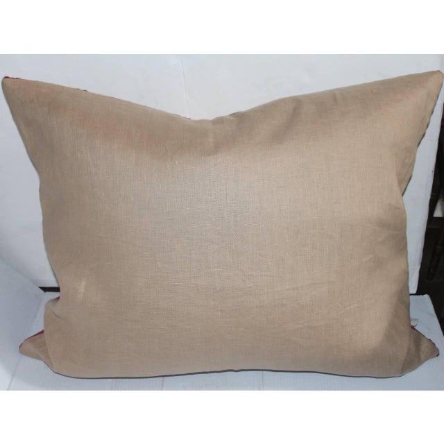 Early 20th Century Monumental Early Navajo Weaving Pillow For Sale - Image 5 of 5
