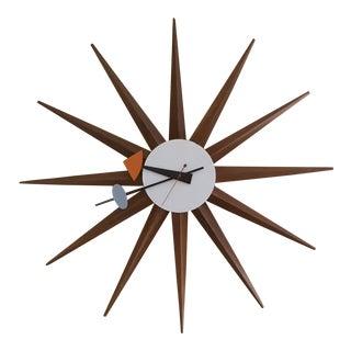 Vintage George Nelson Spike Starburst Clock For Sale