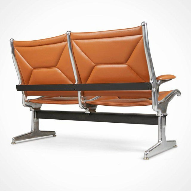 Herman Miller Edelman Leather Two-Seat Tandem Sling by Charles Eames for Herman Miller For Sale - Image 4 of 11