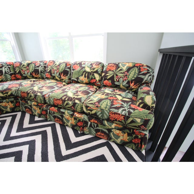 Drexel Heritage Tropical Print Sectional Sofa - Image 7 of 7