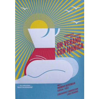 2018 Cuban Silkscreen Poster, Un Verano Con Monica (Signed, Numbered) For Sale