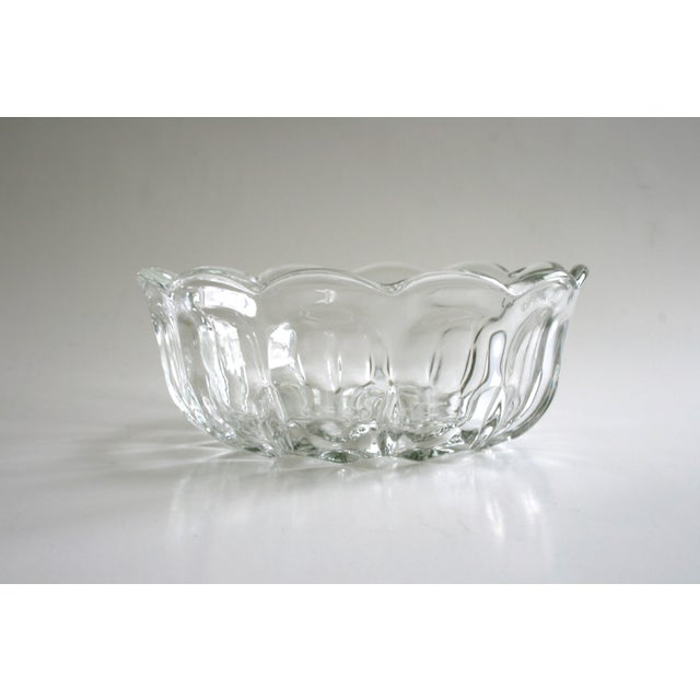 Late 20th Century Glass Flower Shaped Bowl For Sale - Image 5 of 5