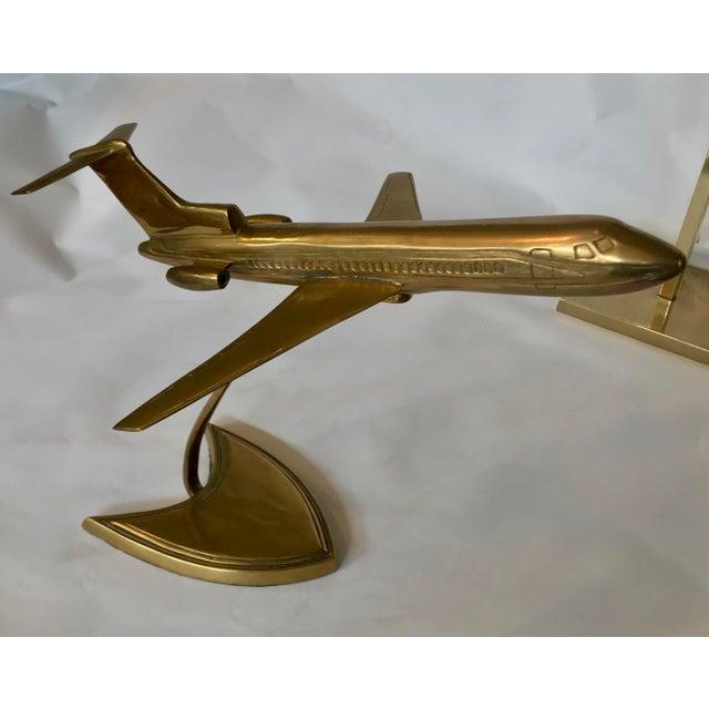 Brass Boeing Airplane Display Model.
