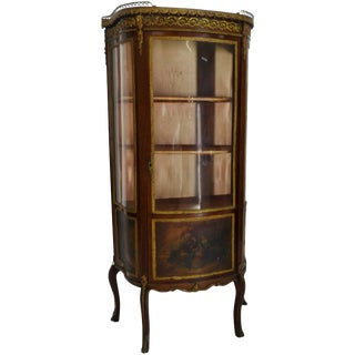 19th Century French Vitrine With Ormolu For Sale