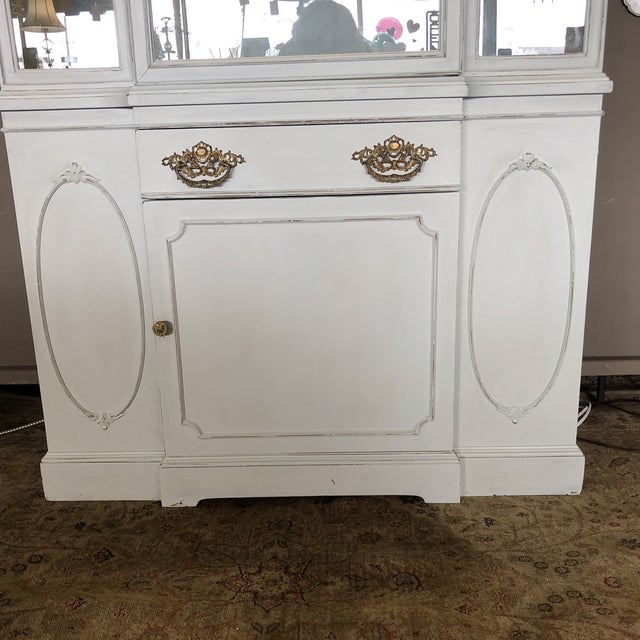Vintage Federal Style China Cabinet For Sale - Image 4 of 11