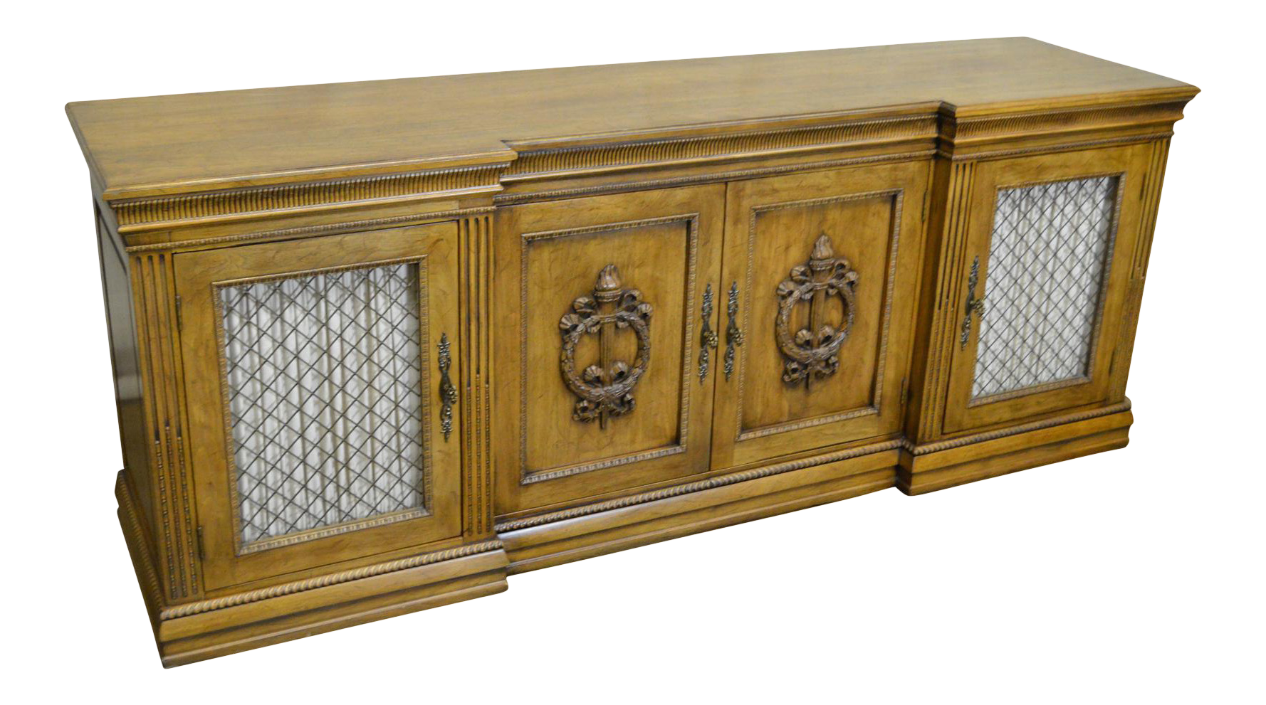 Davis Cabinet Co. Solid Walnut French Provincial Buffet Sideboard