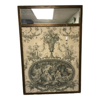 Antique Tapestry Mirror For Sale