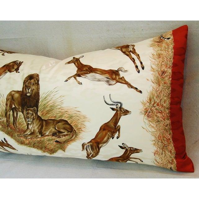 Custom Hermes Robert Dallet Safari Kenya Pillow - Image 5 of 11