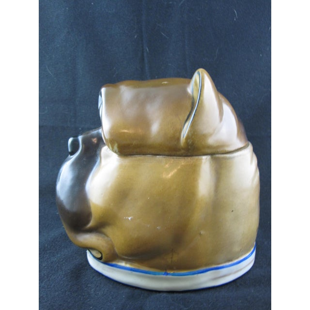 English Staffordshire Bulldog Covered Porcelain Jar - Image 5 of 9