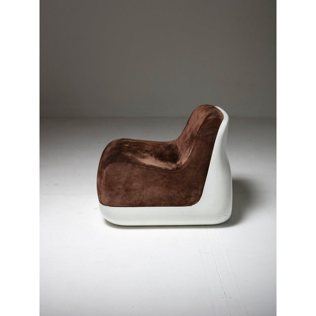 Modern Pair of Easy Chairs by Alberto Rosselli for Saporti For Sale - Image 3 of 7