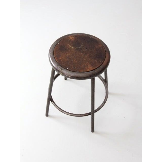 Vintage Industrial Metal Stool - Image 5 of 7